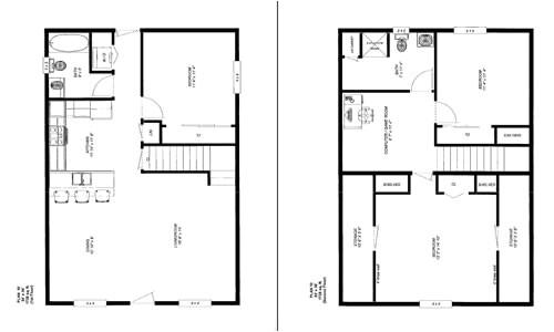 cabin floor plans 24 x 36