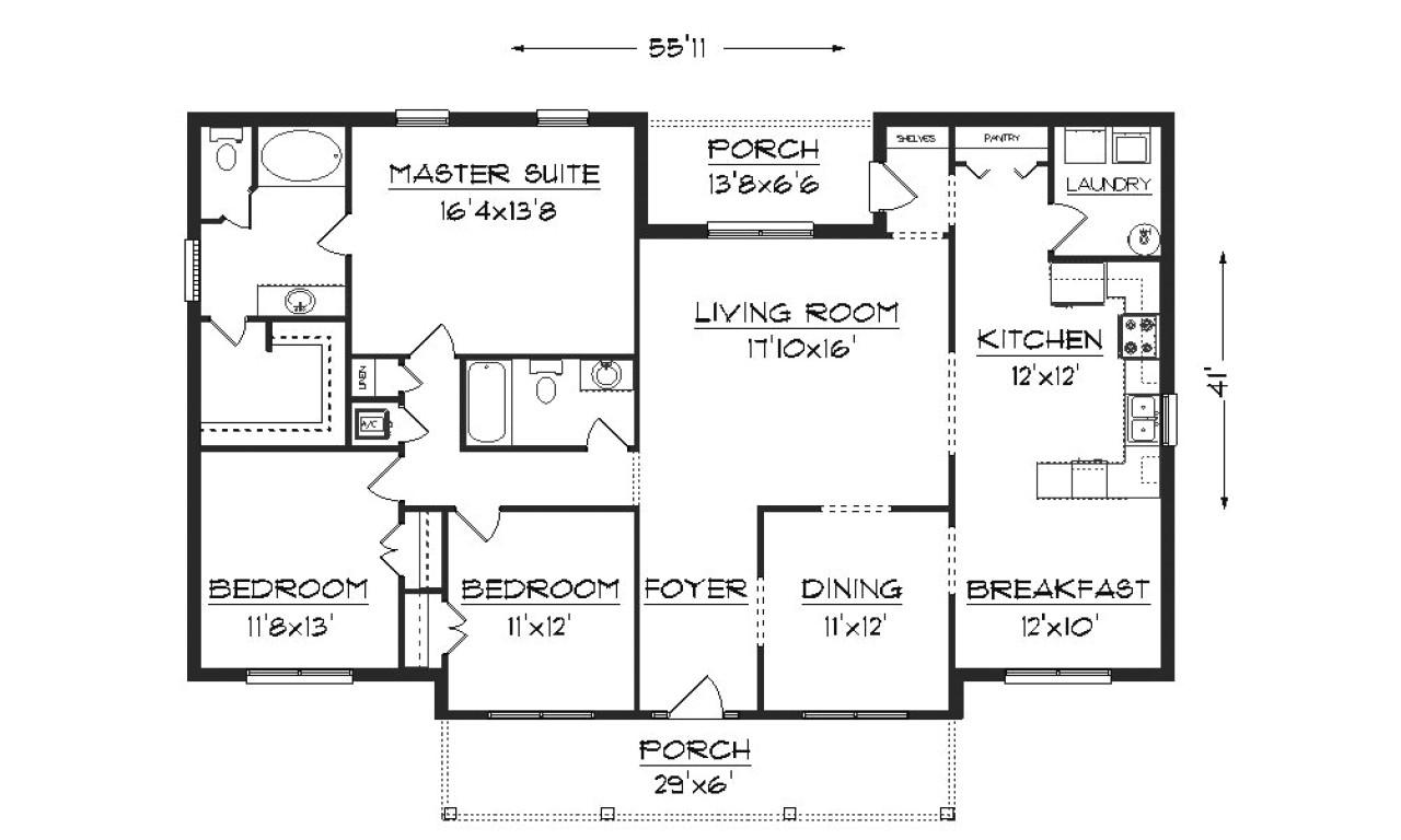 Free Home Floor Plan Design Modern House Plans Bungalow