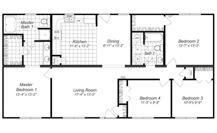 free 4 bedroom house plans and designs