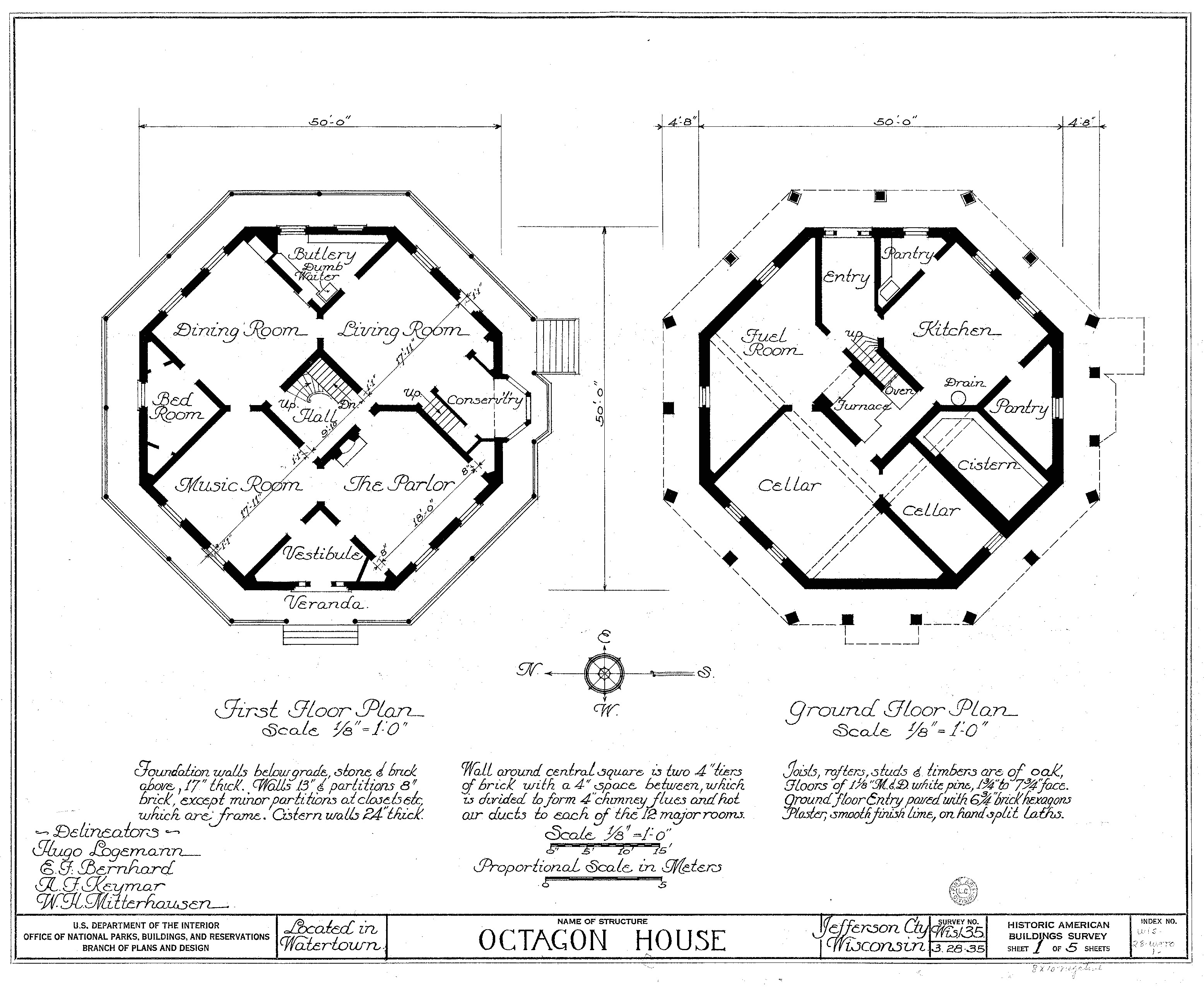 file watertown octagon house plans png