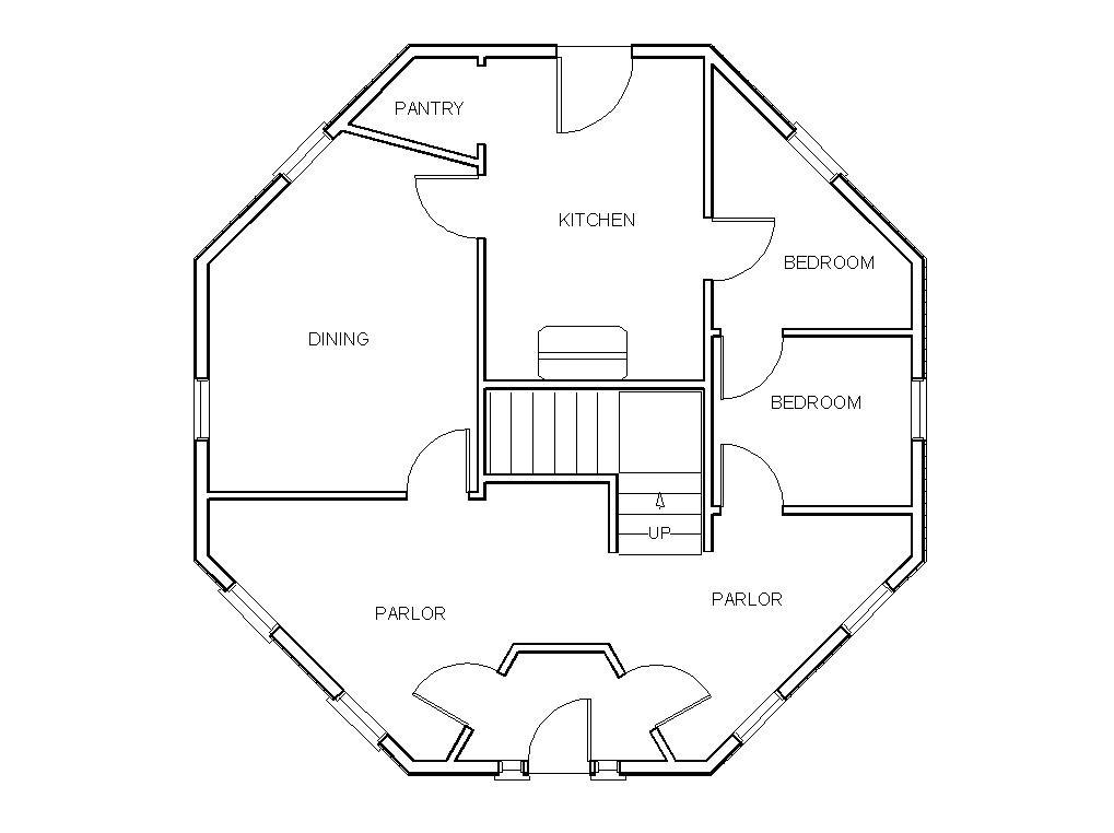 octagon house plans