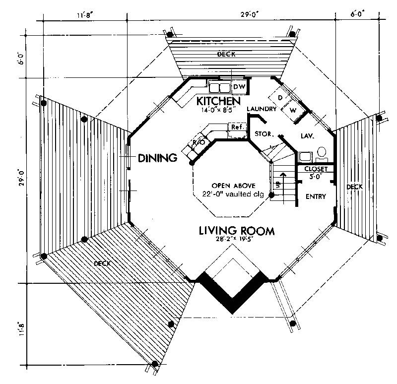 octagon mansion floor plan