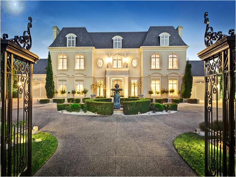 french chateau house plans beautiful french chateau style gated mansion victoria australia homes