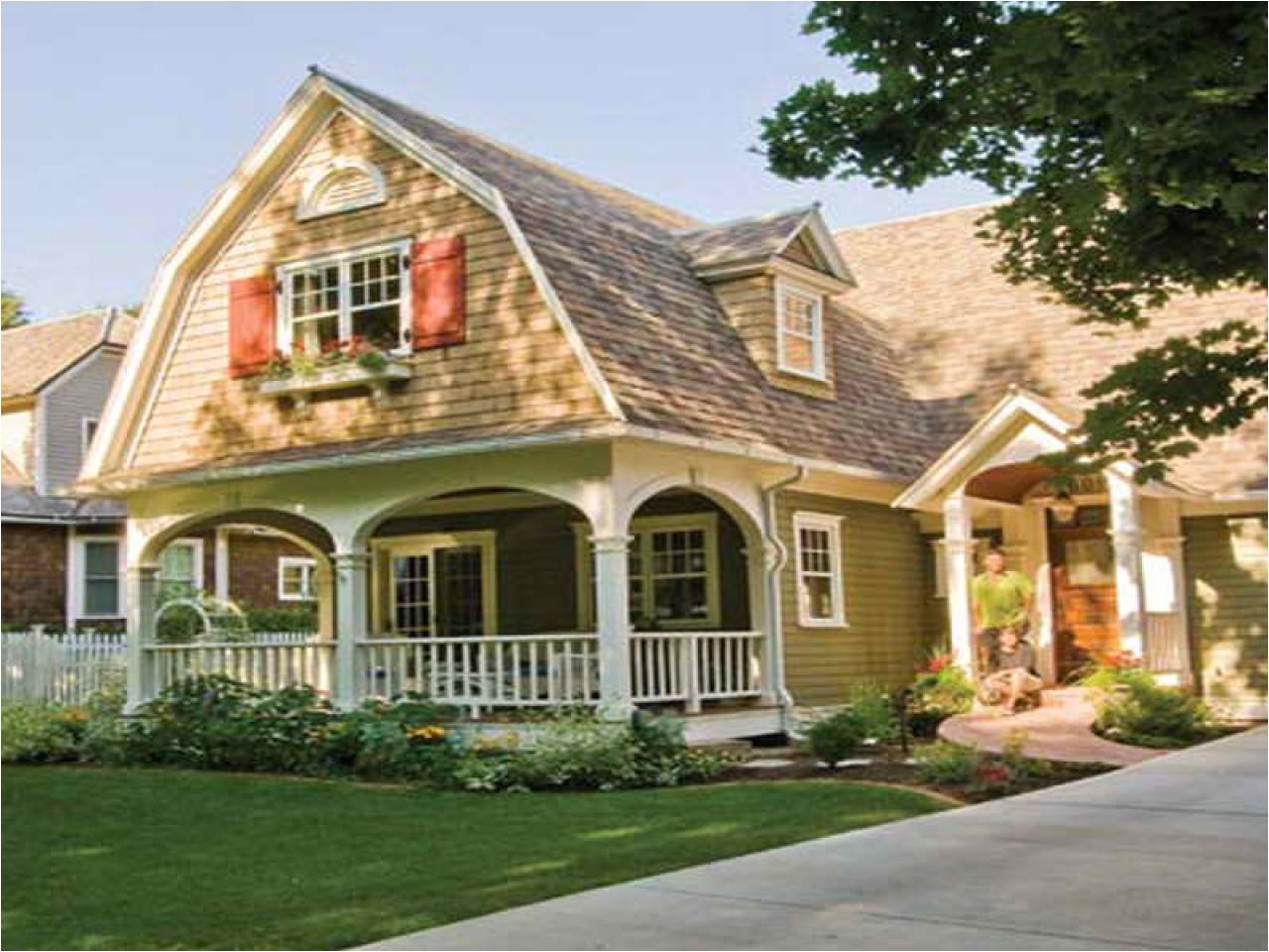 gambrel house plans