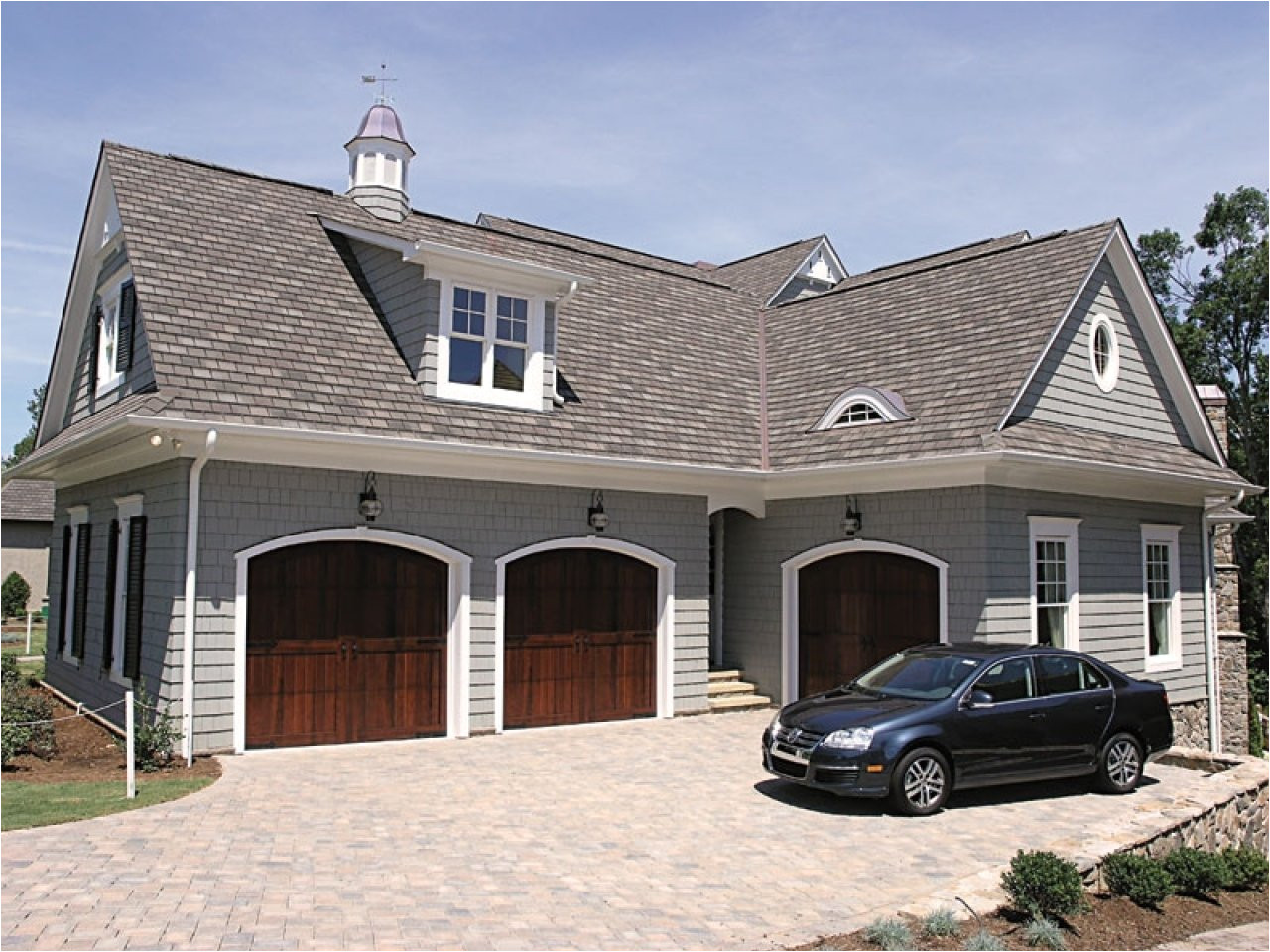 building angled garage house plans