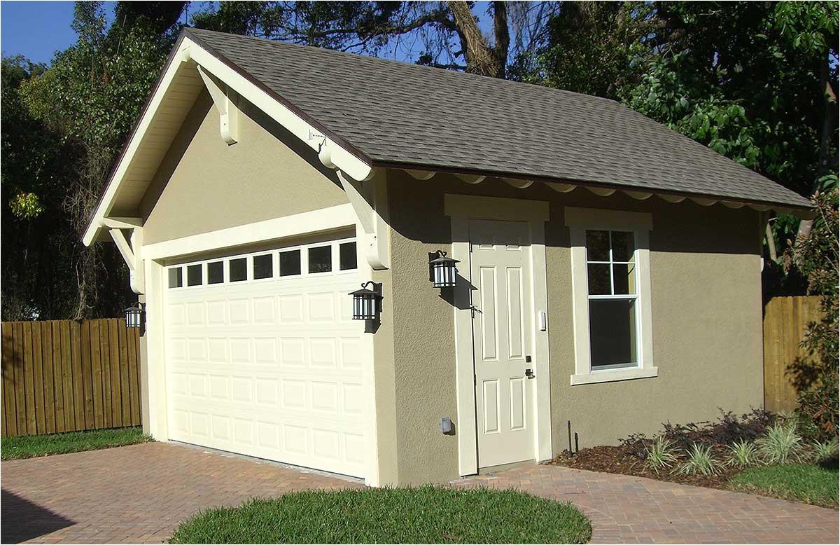 craftsman style detached garage plan 44080td