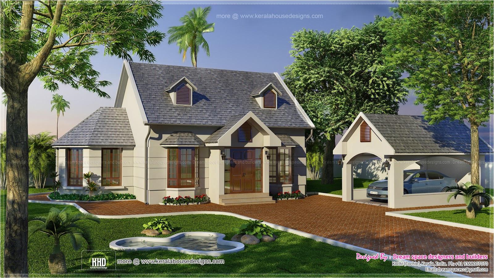 Garden and Home House Plans Vacation Garden Home Design In 1200 Sq Feet Kerala Home
