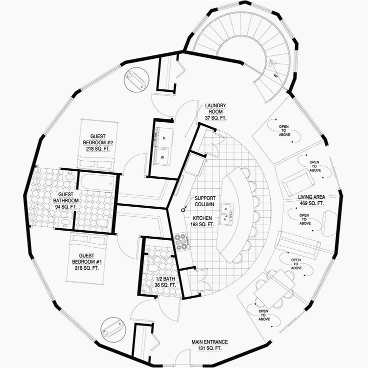 Geodesic Dome Home Floor Plans