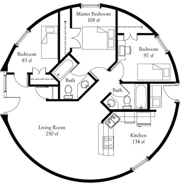 nice dome home plans 5 geodesic dome home floor plans