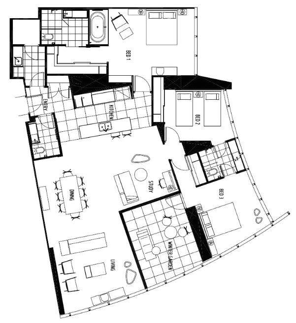 three bedroom spa apartment