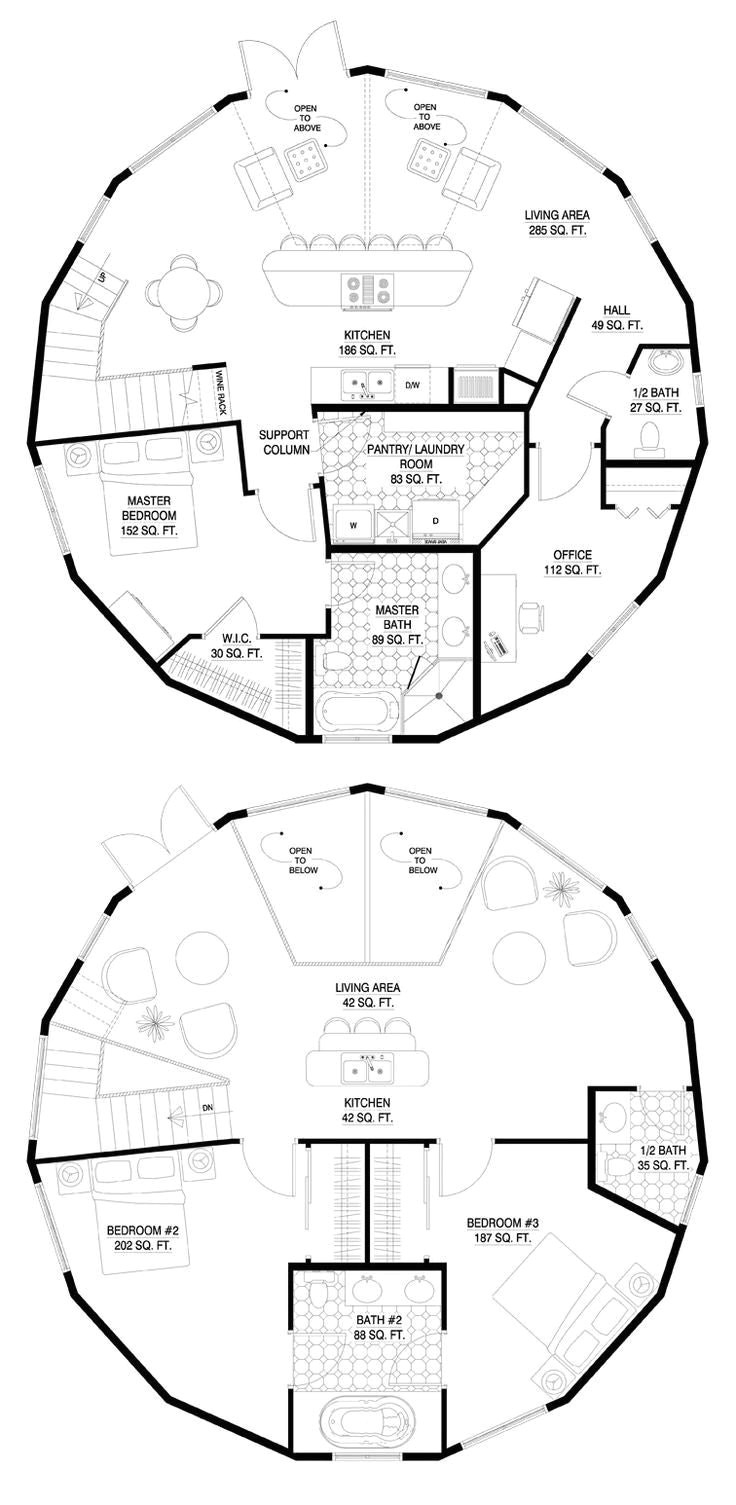 grain silo home floor plans