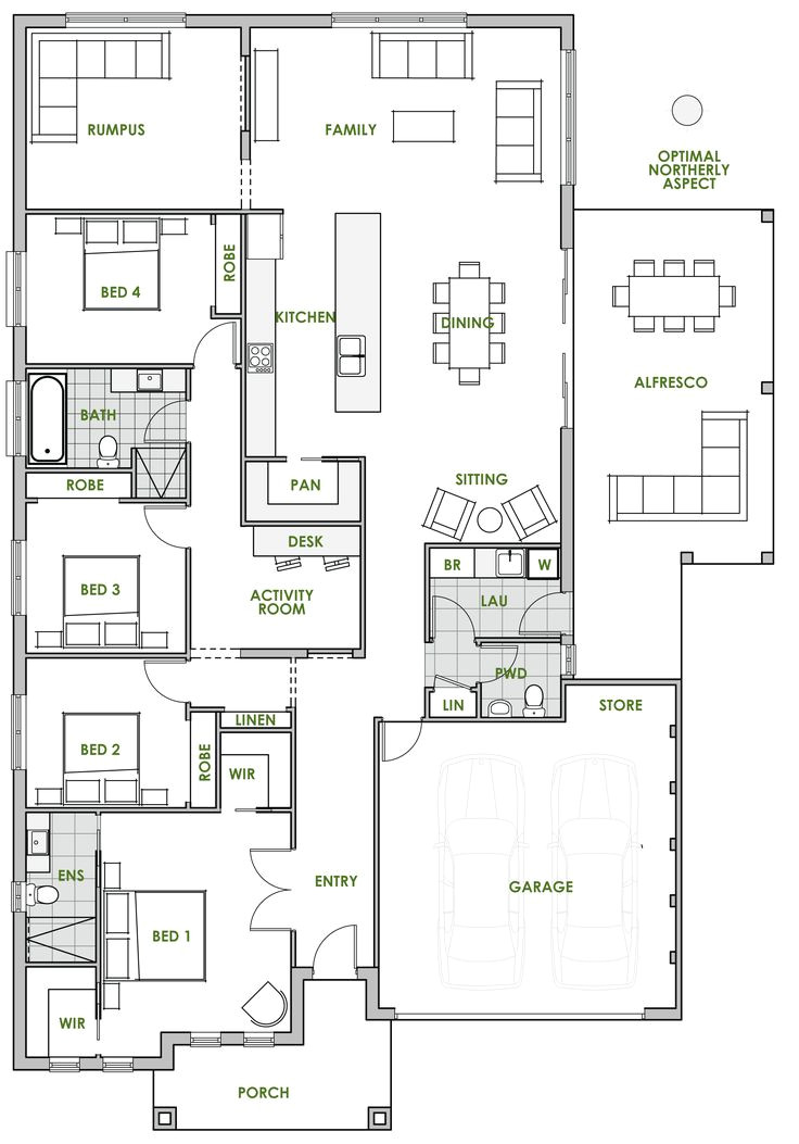 Green Home Floor Plans Hamptons Style House Plans Australia Escortsea