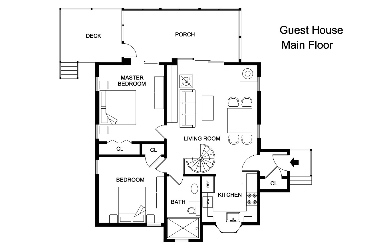 adobe guest house plans