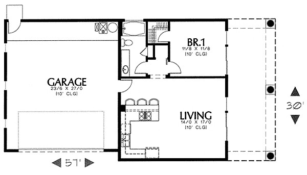 simple southwest guest house plan 16337md