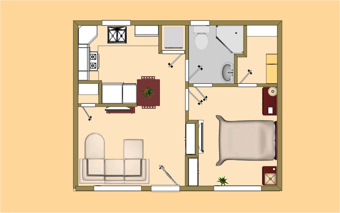 Guest House Floor Plans 500 Sq Ft Small House Plan Under 500 Sq Ft Good for the Quot Guest