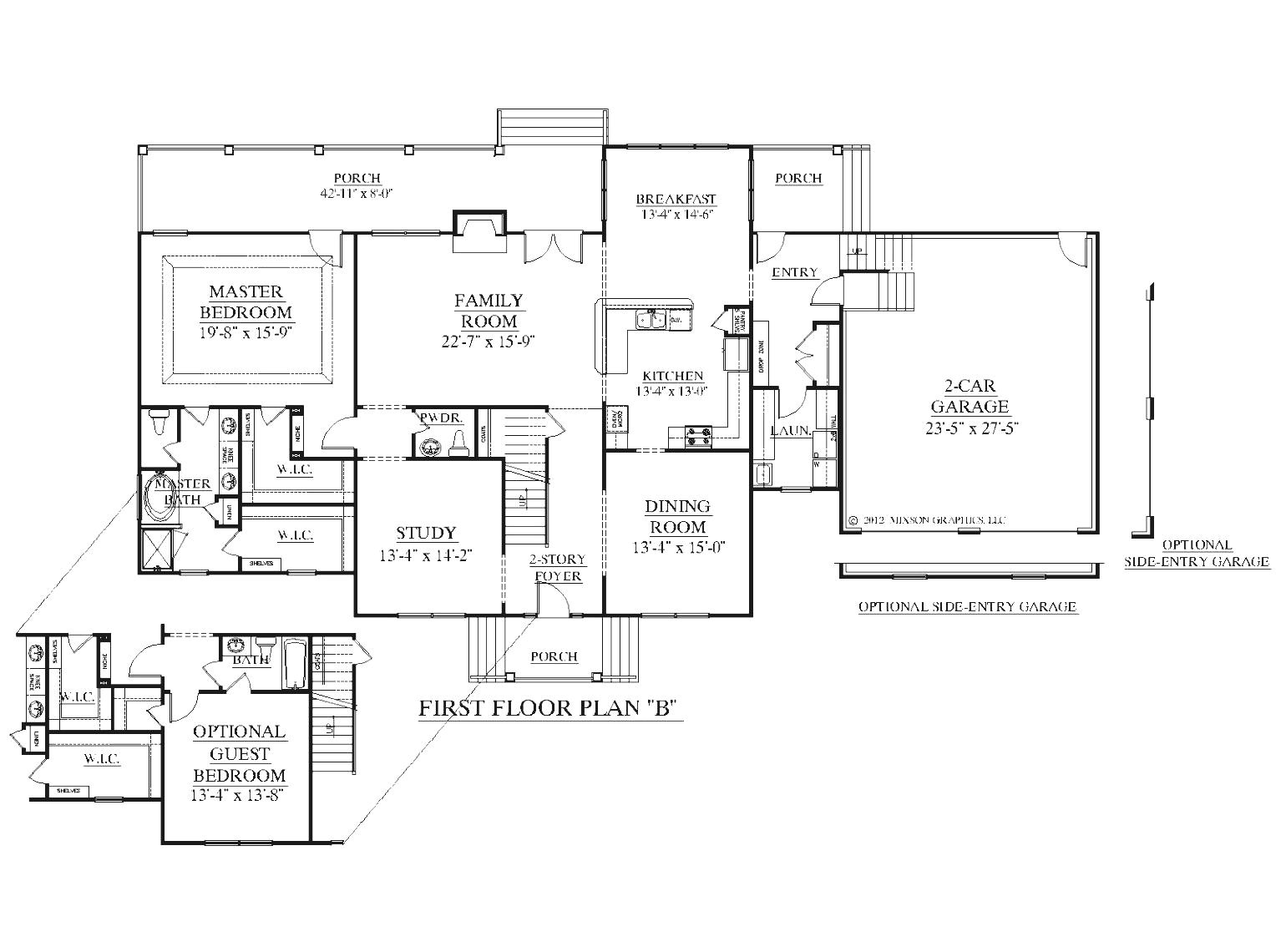 best design ideas for 1 bedroom guest house plans
