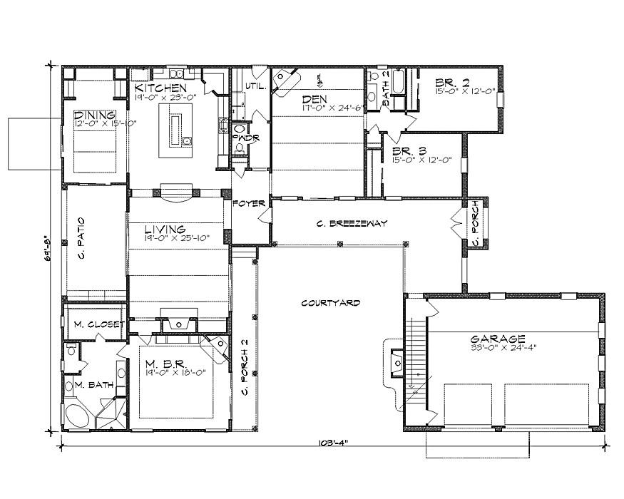 Hacienda Home Plans La Hacienda 4258 4 Bedrooms and 3 Baths the House