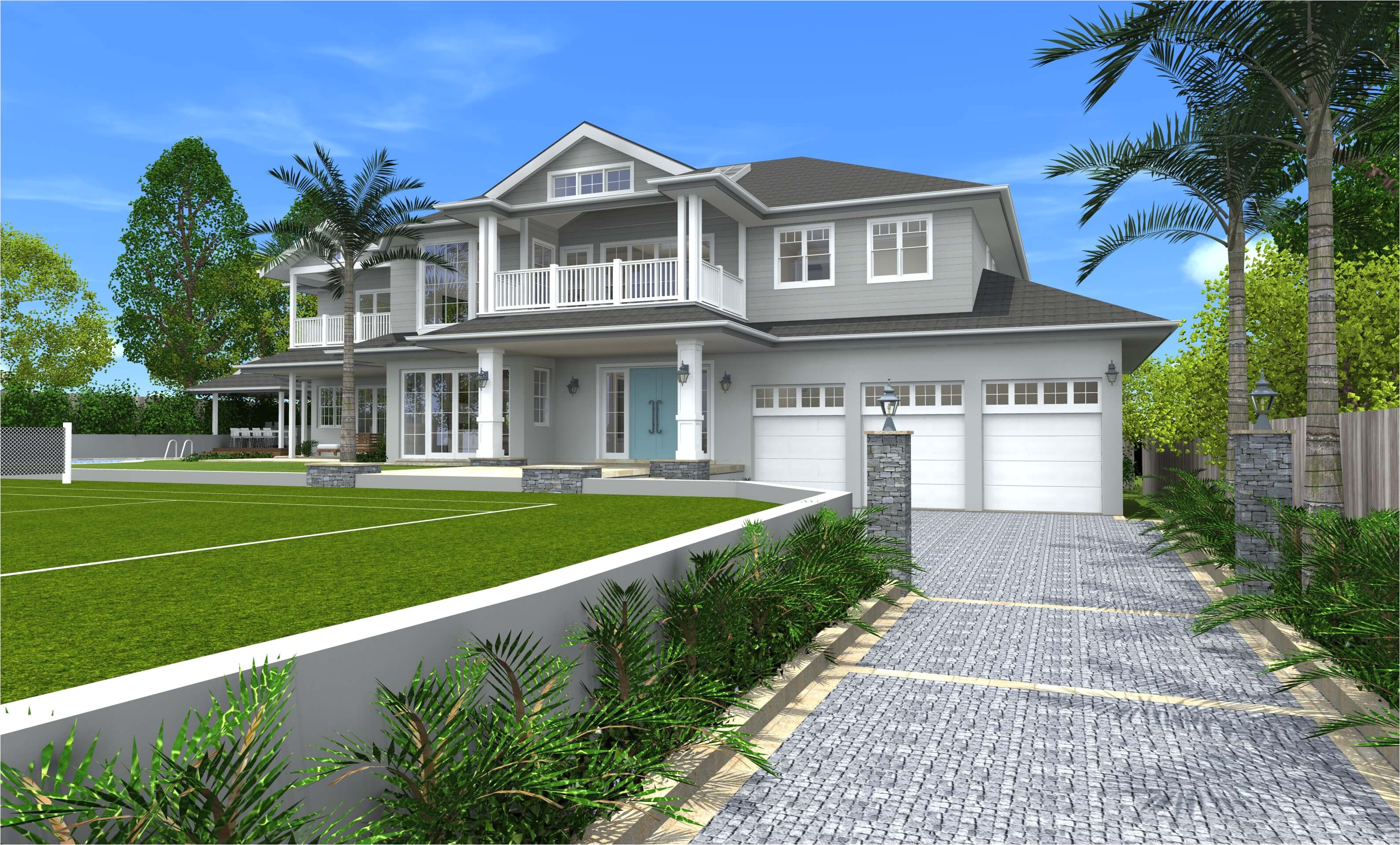 3d home designs hamptons style