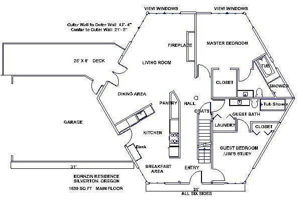 hexagon house plans