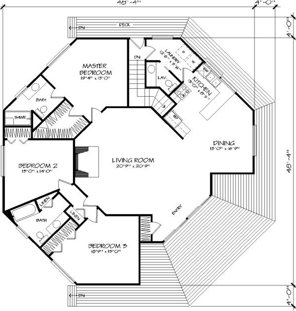 hexagonal house plans