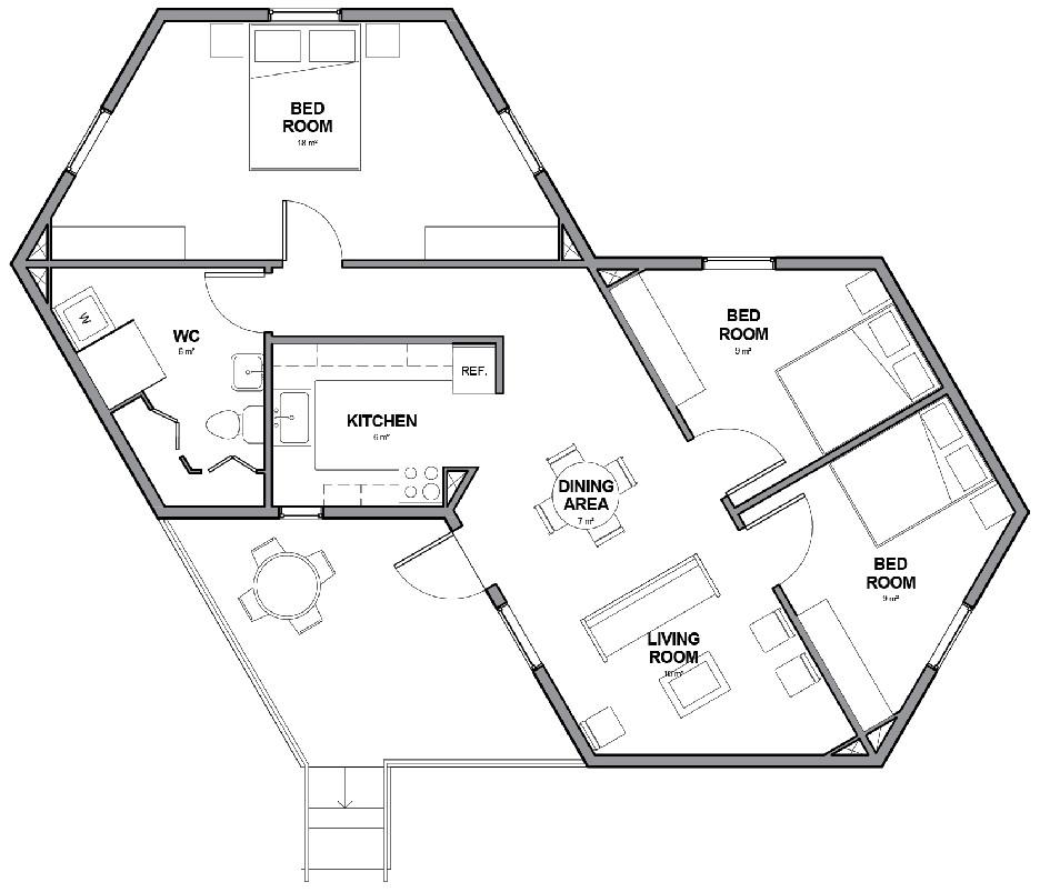 small hexagon house plans with regard to really encourage