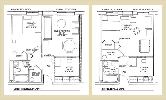 efficiency floor plans