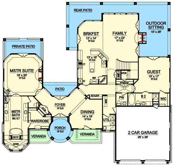 high end mediterranean house plan 36433tx