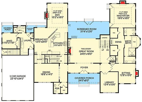 high end shingle style house plan 3898ja