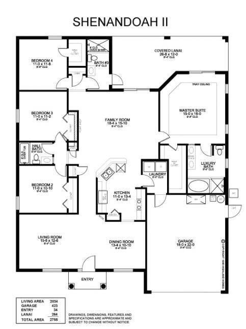 Highland Homes Floor Plans Florida Shenandoah Ii Highland Homes Florida Home Builder with