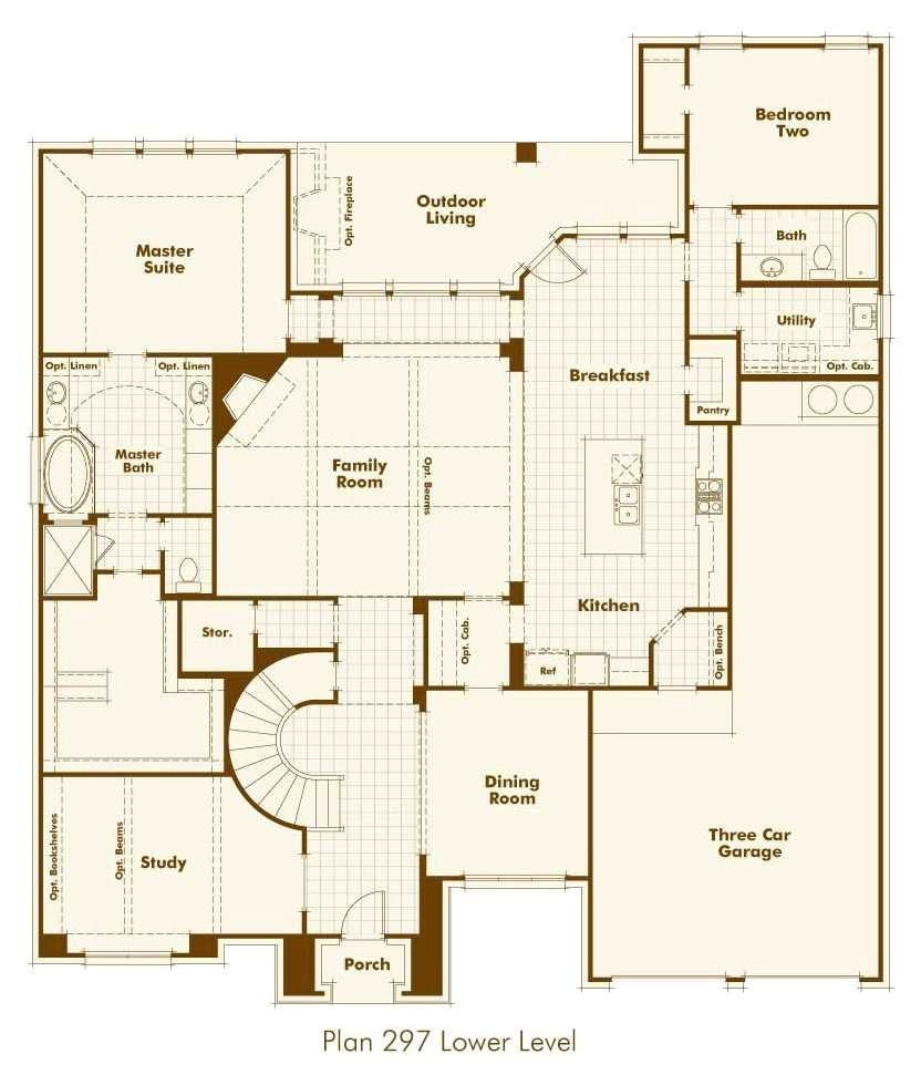 highland homes floor plans awesome new home plan 297 in prosper tx