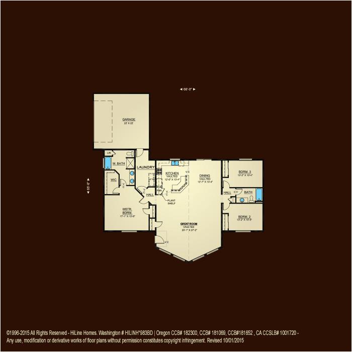 awesome hiline home plans 7 hi line homes floor plans