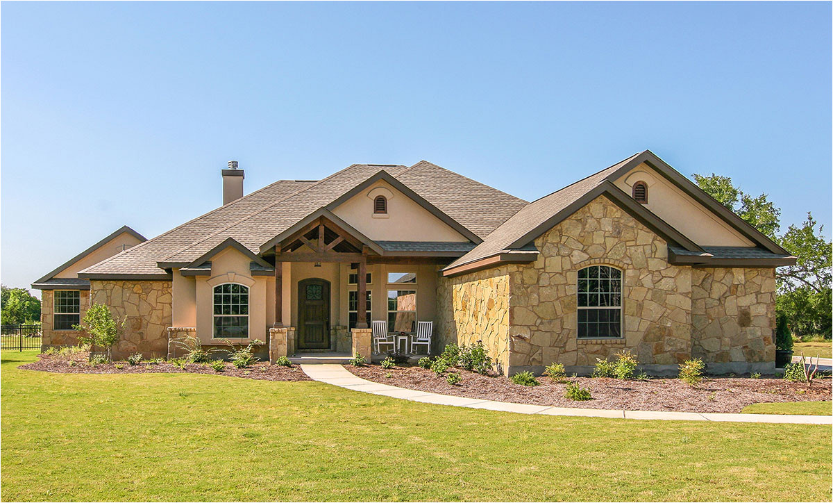 custom hill country ranch house plan 28338hj