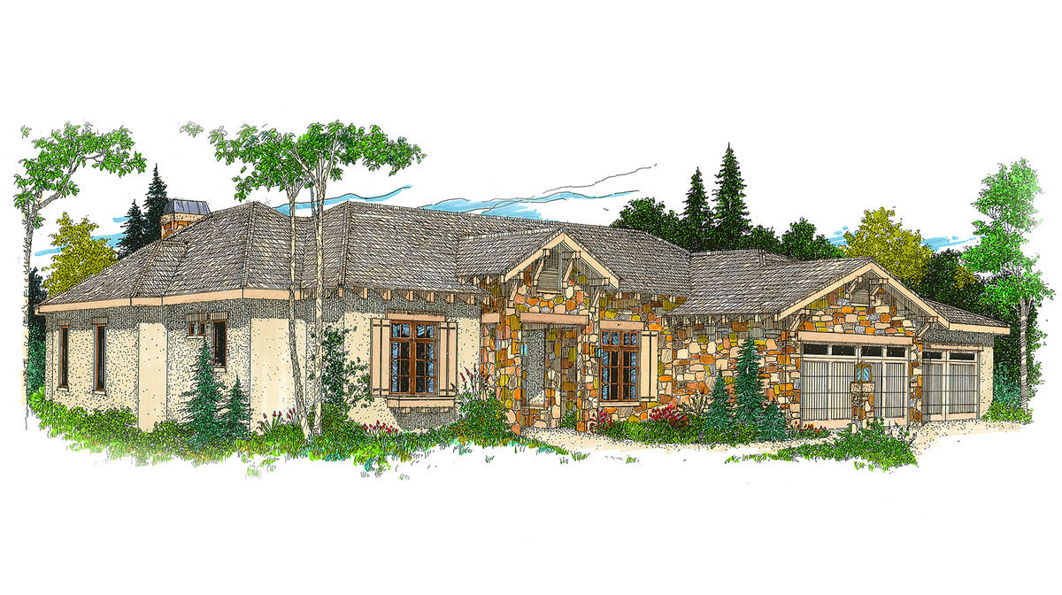 hill country ranch house plan 12500rs