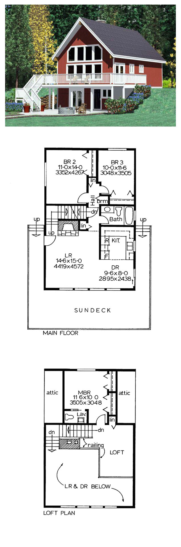 hillside house plan 90822 total living area 1263 sq ft 3 bedrooms 1 5 bathrooms hillsidehome houseplans