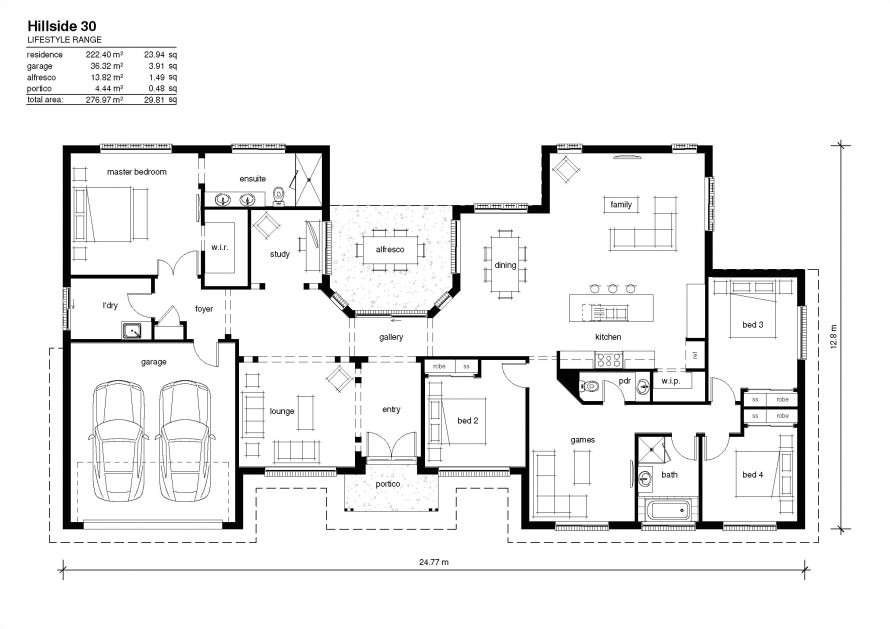 modern design of hillside house plans for your cool house ideas