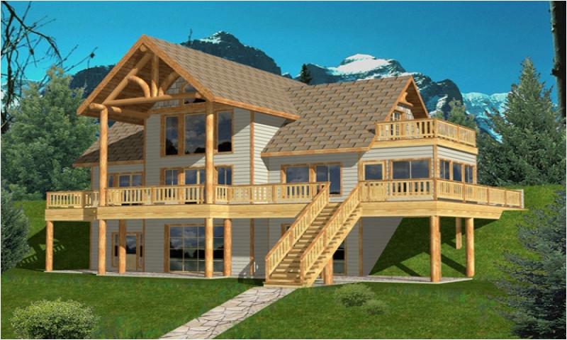 7f0dc8feea95d049 hillside house plans hillside house plans rear view