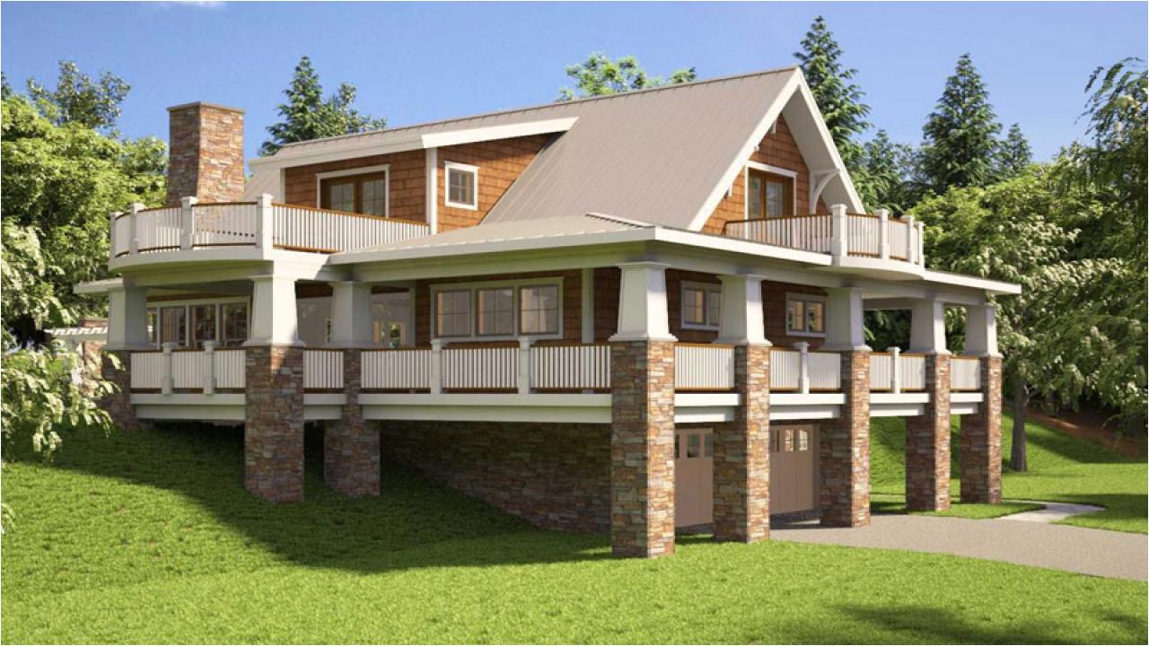 6ce12018ba4721a4 hillside house plans rear view hillside house plans with walkout basement
