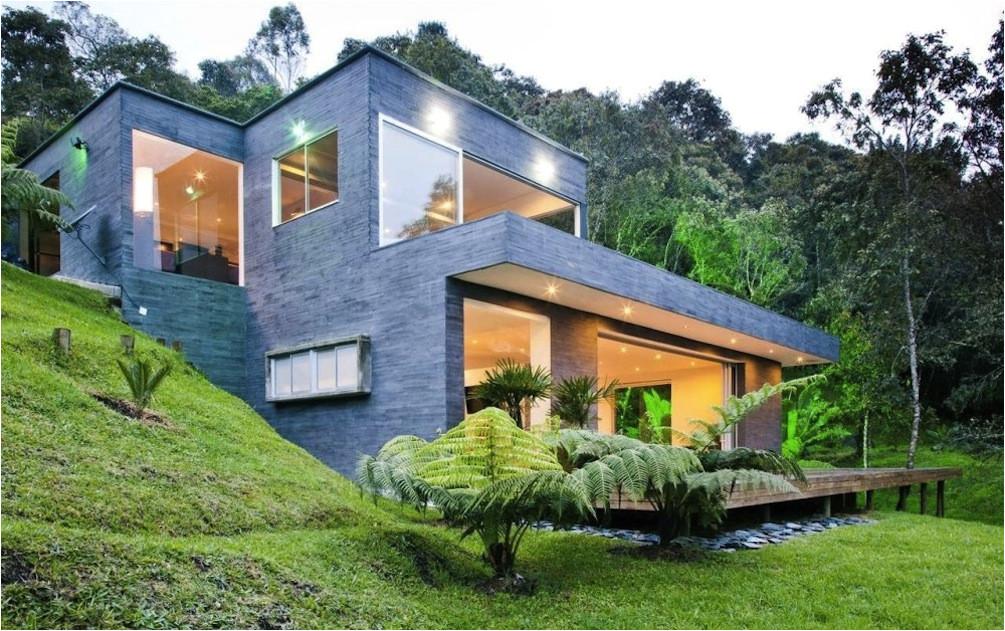 modern hillside house designs