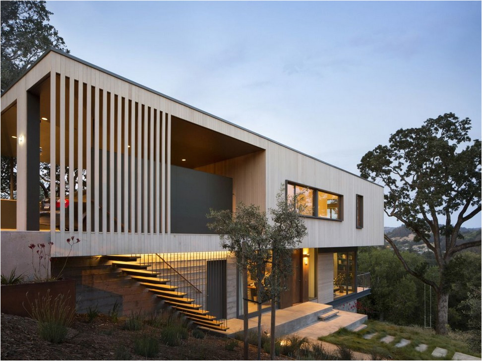 steep hillside house plans with a view