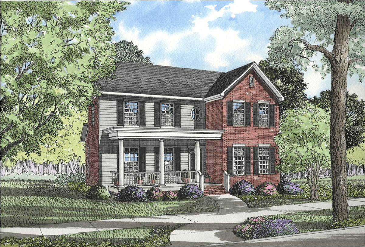 traditional plan with historical southern style 59103nd