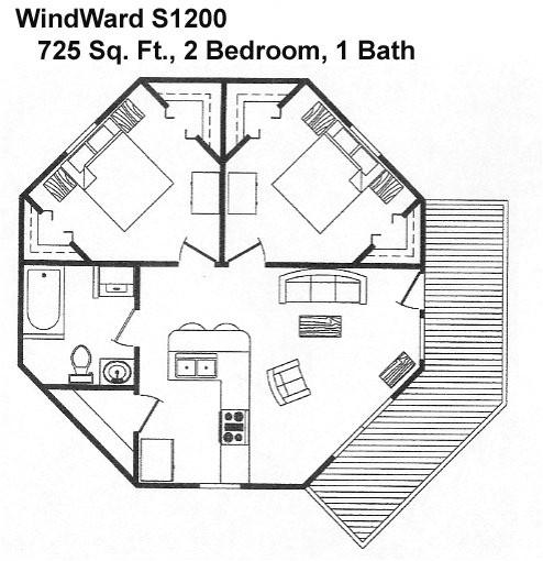 octagon cabin plans