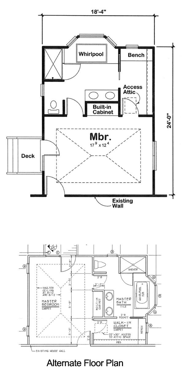 Home Addition Floor Plans Master Bedroom Project Plan 90027 Master Bedroom Addition for One and