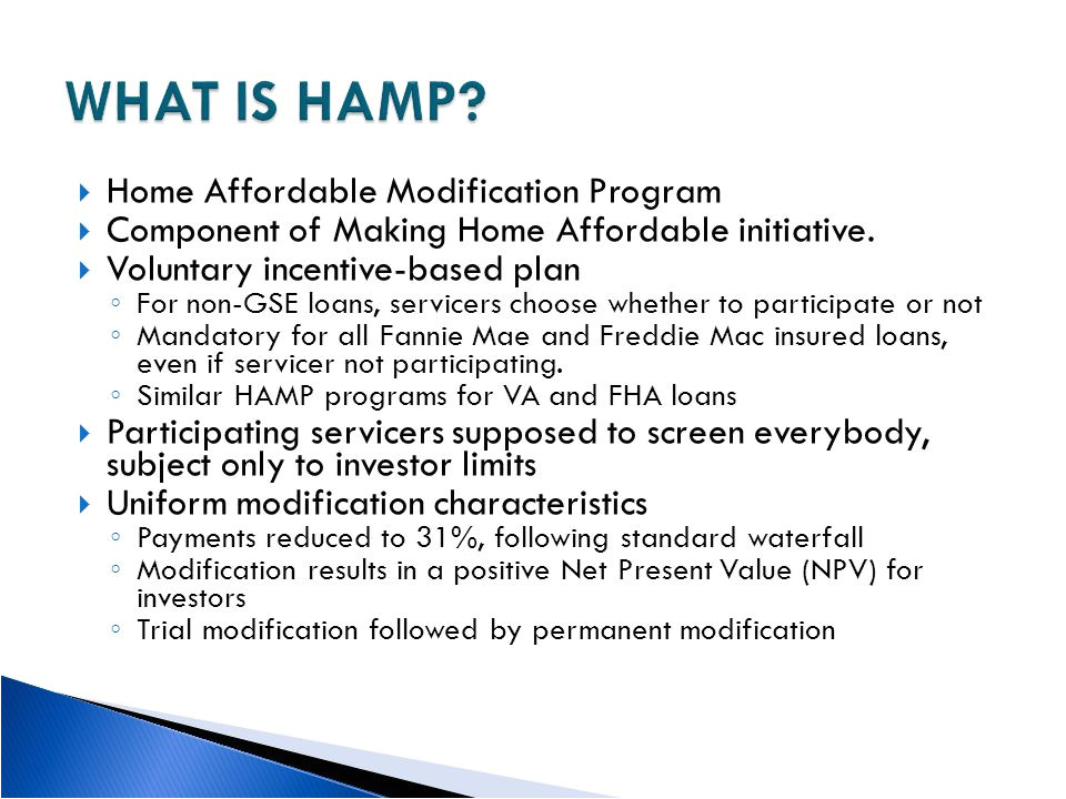 fannie mae hamp program guidelines