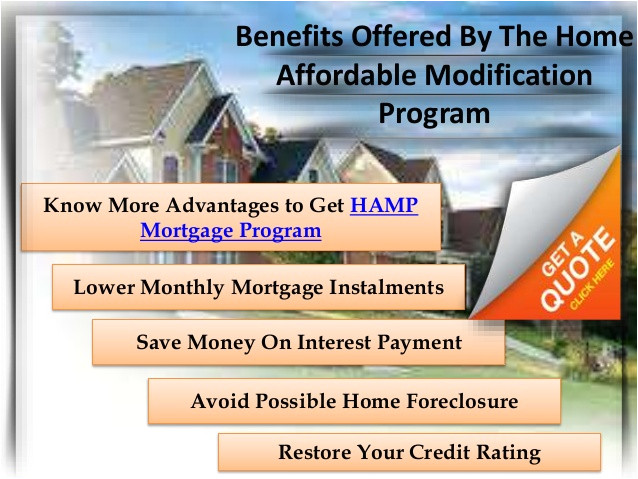 home affordable modification program guidelines