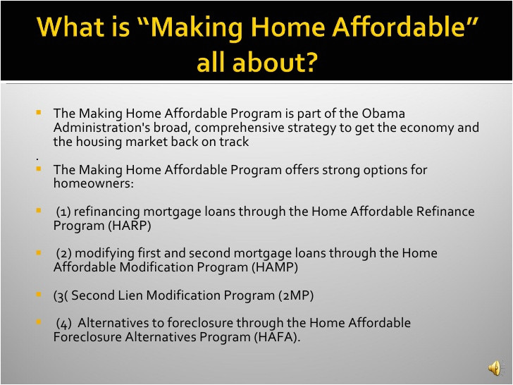 Home Affordable Modification Plan Obama 39 S Home Affordable Modification Refinance 2nd Lien
