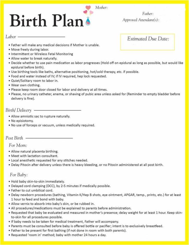 Home Birth Plan Worksheet   plougonver.com