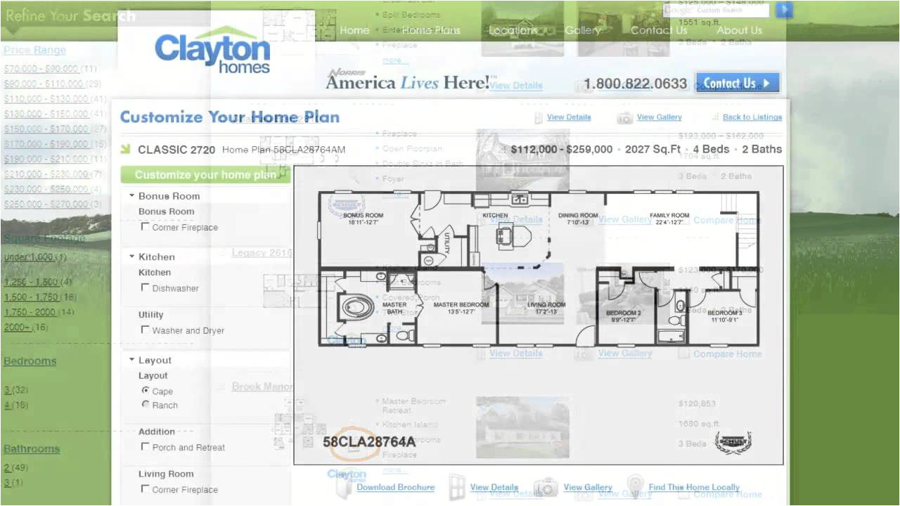 Home Builder Interactive Floor Plans Interactive Floor Plan Manufactured Homes by Clayton
