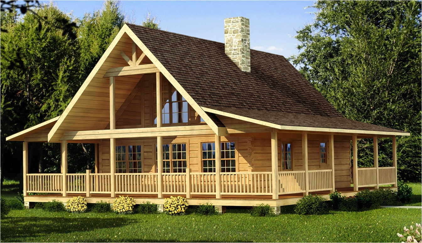 13354 log home floor plans with wrap around porch