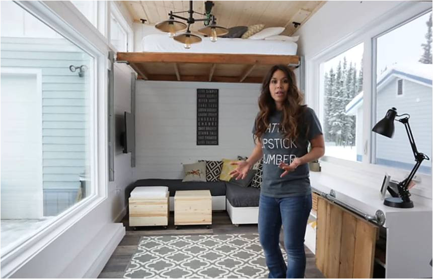 tiny house diy electric lift bed ana white