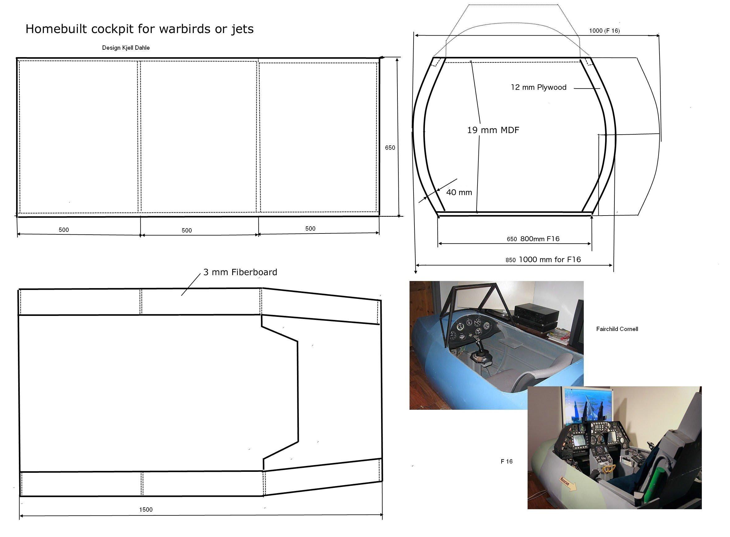 search q flight simulator cockpit plans form restab